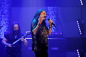 DREAM THEATER - John Petrucci and James LaBrie - performing live at the Eventim Apollo in Hammersmith London UK - 23 Apr 2017.  Photo credit: Zaine Lewis/IconicPix