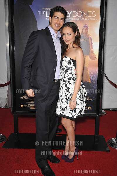 "Brandon Routh & wife Courtney Ford at the Los Angeles premier of ""The Lovely Bones"" at Grauman's Chinese Theatre, Hollywood..December 7, 2009  Los Angeles, CA.Picture: Paul Smith / Featureflash"