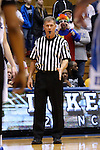 11 February 2016: Referee Tom Danaher. The Duke University Blue Devils hosted the Florida State University Seminoles at Cameron Indoor Stadium in Durham, North Carolina in a 2015-16 NCAA Division I Women's Basketball game. Florida State won the game 69-53.