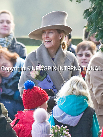 """SOPHIE COUNTESS OF WESSEX ATTENDS CHURCH SERVICE.The Queen, Prince Philip and  Prince Edward, Sophie, Countess of Wessex attended Sunday Mass at St. Mary Magdalene's on the Sandringham Estate_30/12/2012.Kate and Prince William hio reported to be at Sandringham did not attend..©NEWSPIX INTERNATIONAL..Mandatory credit photo:NEWSPIX INTERNATIONAL(Failure to credit will incur a surcharge of 100% of reproduction fees)..**ALL FEES PAYABLE TO: """"NEWSPIX  INTERNATIONAL""""**..Newspix International, 31 Chinnery Hill, Bishop's Stortford, ENGLAND CM23 3PS.Tel:+441279 324672.Fax: +441279656877.Mobile:  07775681153.e-mail: info@newspixinternational.co.uk"""