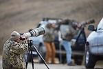 Wildlife photographers in a Montana Wildlife refuge
