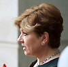 Andrew Marr Show <br /> departures <br /> BBC, Broadcasting House, London, Great Britain <br /> 9th April 2017 <br /> <br /> Emily Thornberry<br /> Shadow Foreign Secretary<br /> <br /> <br /> <br /> <br /> <br /> Photograph by Elliott Franks <br /> Image licensed to Elliott Franks Photography Services