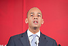 Labour Party Education manifesto launch at Microsoft, London, Great Britain <br /> 9th April 2015 <br /> <br />  General Election Campaign 2015 <br /> <br /> Chuka Umunna<br /> Shadow Business Secretary <br /> <br /> <br /> <br /> <br /> Photograph by Elliott Franks <br /> Image licensed to Elliott Franks Photography Services