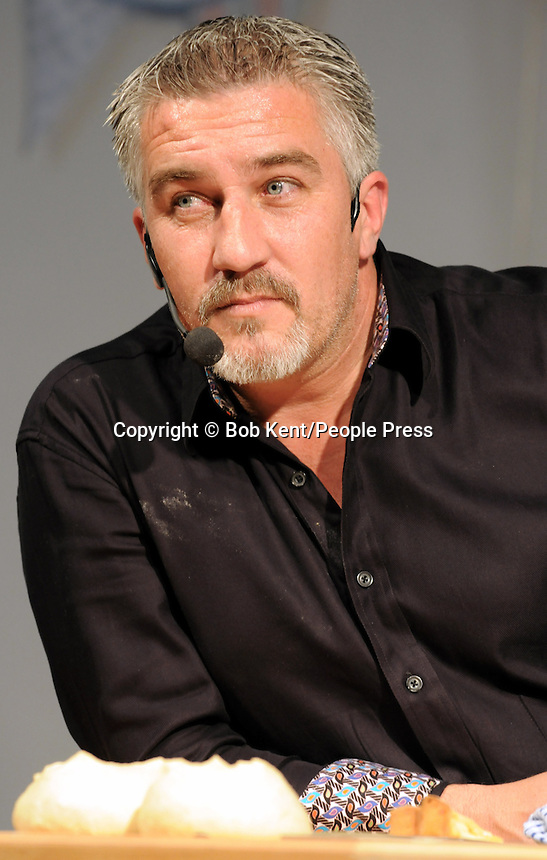 London - Celebrity Chef Paul Hollywood at the Cake International Show, Excel, London - April 12th 2013..Photo by Bob Kent