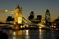 Tower Bridge and Thames River, City, London, Great Britain, UK
