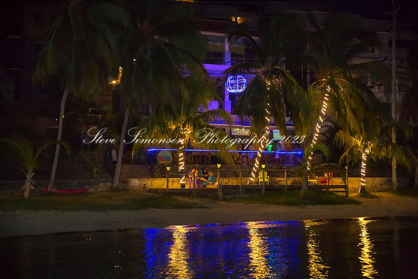 The night lights of Cruz Bay<br /> St. John<br /> US Virgin Islands