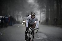Dwars Door Vlaanderen 2013.Davide Appollonio (ITA) pushing it to get back into the peloton after a mechanical