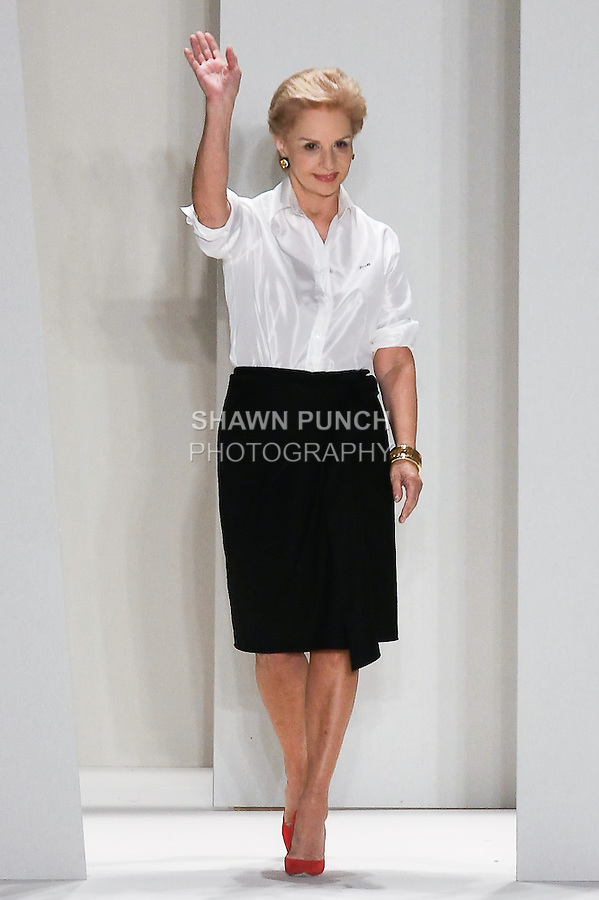 Fashion icon Carolina Herrera, thanks audience for attending her Carolina Herrera Spring 2012 fashion show, during Mercedes-Benz Fashion Week Spring 2012.