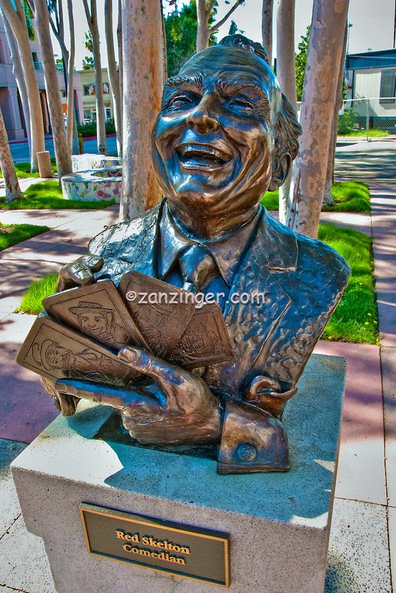 Red Skelton, Comedian, Academy of Television Arts & Sciences, Celebrity, Bronze, Sculptures, Sculptural Works, Public Art, Display, North Hollywood, CA