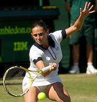 Roberta Vinci (ITA) against  Anastasia Pavlyuchenkova (RUS) (31) in the second round of the ladies singles. Vinci beat Pavlyuchenkova 6-4 7-6..Tennis - Wimbledon - Day 3 - Wed  24th June 2009 - All England Lawn Tennis Club  - Wimbledon - London - United Kingdom..Frey Images, Barry House, 20-22 Worple Road, London, SW19 4DH.Tel - +44 20 8947 0100.Cell - +44 7843 383 012