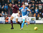 Hearts v St Johnstone&hellip;05.11.16  Tynecastle   SPFL<br />Brian Easton and Bjorn Johnsen<br />Picture by Graeme Hart.<br />Copyright Perthshire Picture Agency<br />Tel: 01738 623350  Mobile: 07990 594431