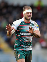 Lachlan McCaffrey of Leicester Tigers. Aviva Premiership match, between Leicester Tigers and Sale Sharks on February 6, 2016 at Welford Road in Leicester, England. Photo by: Patrick Khachfe / JMP