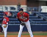 Matt Crouse pitches at Ole Miss baseball alumni game at Oxford-University Stadium in Oxford, Miss. on Saturday, February 5, 2011.