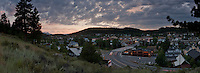 """Sunset above Truckee, CA"" - This panoramic photo was taken above Downtown Truckee, CA at sunset."