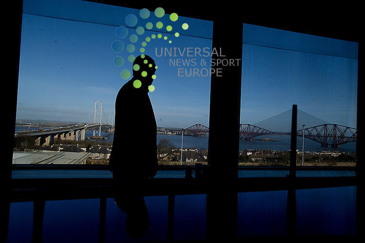Builders of the original Forth Road Bridge visit the Forth Contact and Education Centre and the site of the new crossing, South Queensferry, Scotland, 01/03/2013.Picture:Scott Taylor Universal News And Sport (Europe) .All pictures must be credited to www.universalnewsandsport.com. (Office)0844 884 51 22.