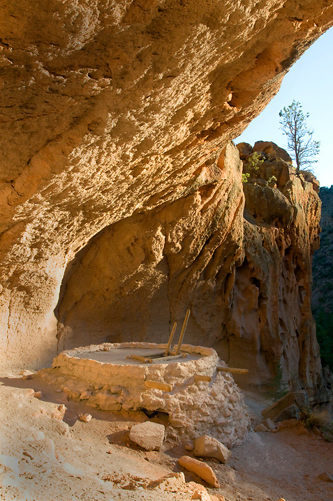 The kiva inside Alcove House in Bandelier National Monument, NM.