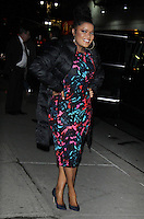 NEW YORK, NY - FEBRUARY 21: Yvette Nicole Brown seen exiting The Late Show With Stephen Colbert in New York City on  February 21, 2017. Credit: RW/MediaPunch