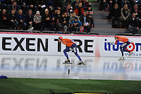 SPEED SKATING: HAMAR: Vikingskipet, 05-03-2017, ISU World Championship Allround, 1500m Men, Sven Kramer (NED), Patrick Roest (NED), ©photo Martin de Jong