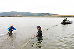 Setting Up Nets - Elkhorn Slough