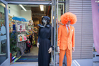 A Ricky's Costume Superstore in New York is ready for Halloween on Monday, October 6, 2014. According to the National Retail Federation the average person will spend $77.52 for the holiday.  Total Halloween spending is expected to reach $7.4 billion. (© Richard B. Levine)