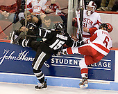 Steven McParland (PC - 15), Alexx Privitera (BU - 6) - Sean Maguire (BU - 31) - The Boston University Terriers defeated the visiting Providence College Friars 4-2 (EN) on Saturday, December 13, 2012, at Agganis Arena in Boston, Massachusetts.