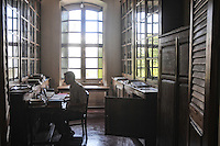 A man studies at E'cole Francaise D'extreme - Orient in Pondicherry. Arindam Mukherjee