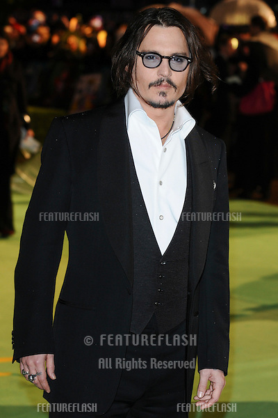 "Johnny Depp arriving for the ""Alice in Wonderland"" royal world premiere at the Odeon Leicester Square, London.  25/02/2010  Picture by: Steve Vas / Featureflash"