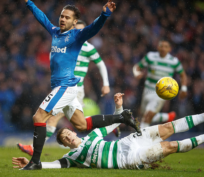 Erik Sviatchenko tackles Harry Forrester