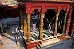 "Asia, India Varanasi.  The Durga ""monkey"" Temple."