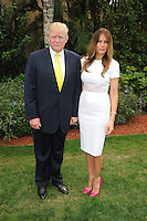 PALM BEACH, FL - JANUARY 05: Donald Trump and Melania Trump attend the 2014 Trump Invitational Grand Prix at Club Mar-a-Lago on January 5, 2014 in Palm Beach, Florida. Credit: mpi04/MediaPunch