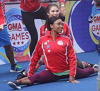 NEW YORK, NY-August 11: Dominiaque Dawes, McKayla Maroney Olymic Gold winner at Good Morning America go for GMA Games Gold in New York. NY August 11, 2016. Credit:RW/MediaPunch