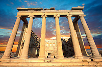 The Erechtheum Temple, the Acropolis of Athens in Greece.