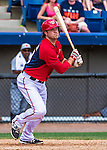 16 March 2014: Washington Nationals catcher Chris Snyder in action during a Spring Training Game against the Detroit Tigers at Space Coast Stadium in Viera, Florida. The Tigers edged out the Nationals 2-1 in Grapefruit League play. Mandatory Credit: Ed Wolfstein Photo *** RAW (NEF) Image File Available ***