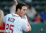 April 20, 2009: Anthony Rizzo of the Greenville Drive, Class A affiliate of the Boston Red Sox, in a game against the Greensboro Grasshoppers at Fluor Field at the West End in Greenville, S.C. Photo by: Tom Priddy/Four Seam Images