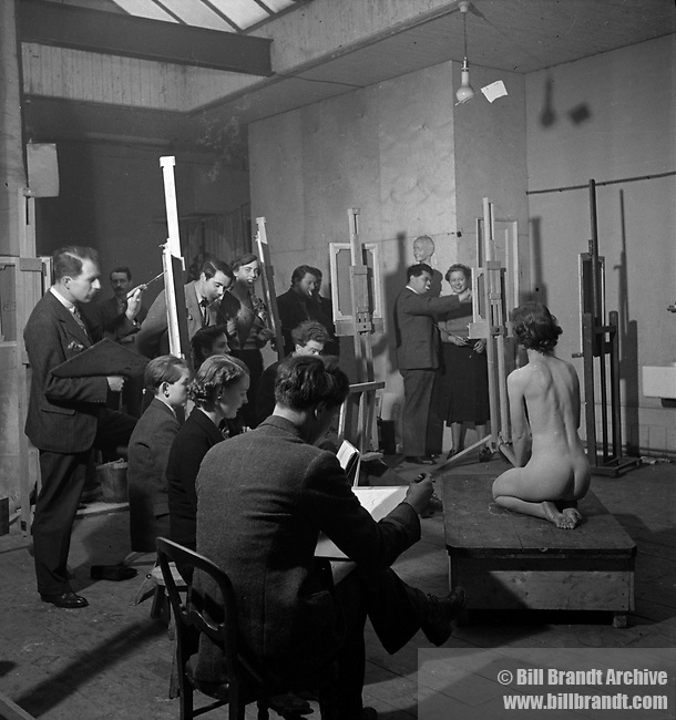 Artist class, Euston Road School of Art, 1950s