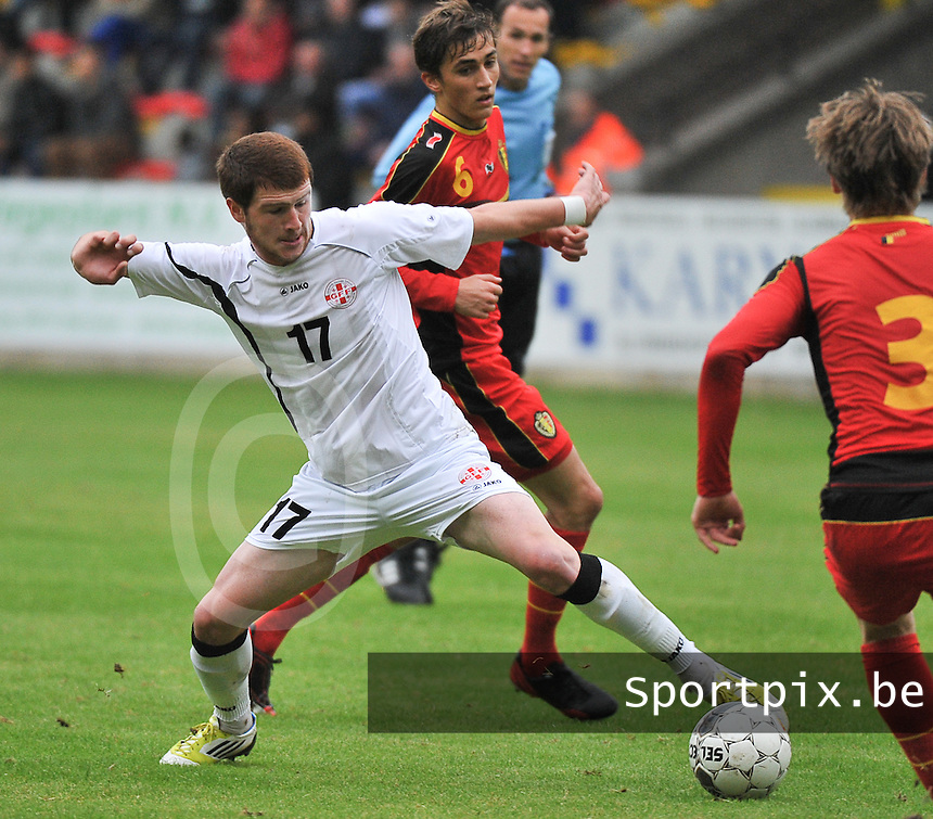 Georgia U19 - Belgium U19 : Budu Zivzivadze (17)<br /> foto DAVID CATRY / Nikonpro.be
