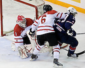 Jake Allen (Canada - 1), Ryan Ellis (Canada - 6), Jerry D'Amigo (USA - 29) - Team Canada defeated Team USA 5-4 (SO) on Thursday, December 31, 2009, at the Credit Union Centre in Saskatoon, Saskatchewan, during the 2010 World Juniors tournament.