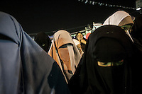 In this Wednesday, Jul. 17, 2013 photo, female supporters of the ouster president Mohammed Mursi pray during a rally carried out by Muslim Brotherhood members in Rabaa Al-Adawya mosque in Nasr City, Cairo. (Photo/Narciso Contreras).