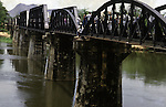 The Bridge on the River Kwai, known to many P.O.W.'s as the bridge of sorrow, attracts thousands of tourists yearly. in Kanchanaburi, Thailand. Over 16,000 allied P.O.W.s died of starvation, maltreatment and disease while building the bridge on the River Kwai and a 250- mile railway from Thailand into Burma. (Jim Bryant Photo)..