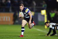 Chris Cook of Bath Rugby gets past Ken Pisi of Northampton Saints. Aviva Premiership match, between Bath Rugby and Northampton Saints on February 10, 2017 at the Recreation Ground in Bath, England. Photo by: Patrick Khachfe / Onside Images