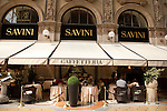 The Savini Restaurant in the Vittorio Emanuele II Shopping Gallery in Milan, Italy