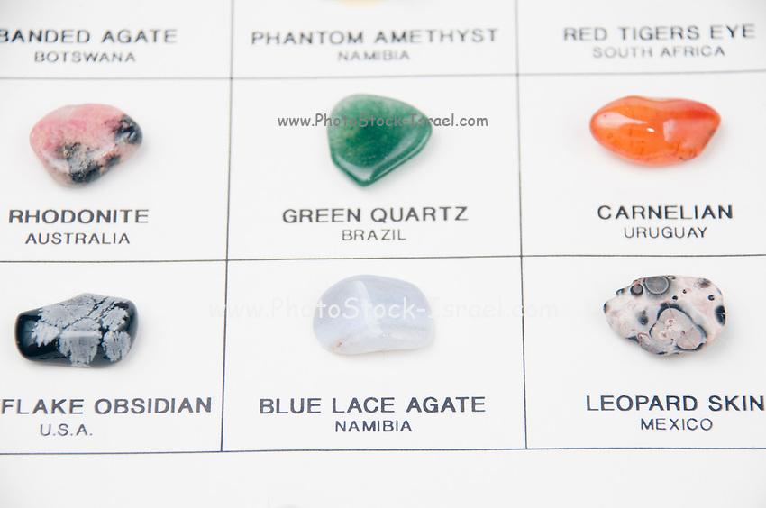 Semi Precious Stones Identification Gemstone identification chart