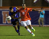 The number 24 ranked Furman Paladins took on the number 20 ranked Clemson Tigers in an inter-conference game at Clemson's Riggs Field.  Furman defeated Clemson 2-1.  Alexandra Rome'o Happi (15), Tony Santibanez (2)