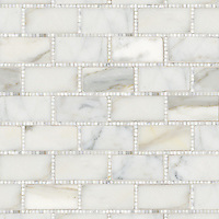 Hancock, a hand-cut stone mosaic, shown in polished Calacatta.