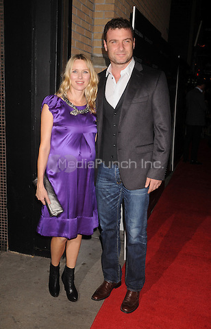 """Noami Watts and Liev Schreiber at the Screening of """"Filth and Wisdom"""" hosted by The Cinema Society and Dolce and Gabbana. Landmark Sunshine Theatre, New York City. October 13, 2008.. Credit: Dennis Van Tine/MediaPunch"""