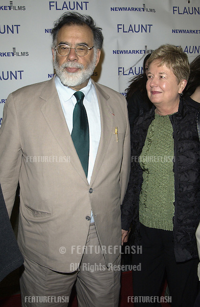 Director FRANCIS FORD COPPOLA & wife at the Los Angeles premiere of Spun..March 17, 2003.© Paul Smith / Featureflash