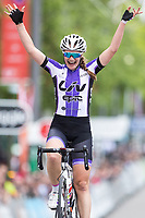 Picture by Alex Whitehead/SWpix.com - 16/05/2017 - Cycling - Tour Series Round 4, Wembley - Matrix Fitness Grand Prix - Jess Roberts of Liv Epic Coaching wins the Matrix Fitness Women's Grand Prix at Wembley.