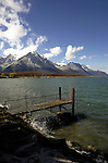 Jetty on Lake Léman close to Montreux, Switzerland.