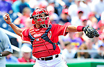 25 April 2010: Washington Nationals' catcher Ivan Rodriguez in action against the Los Angeles Dodgers at Nationals Park in Washington, DC. The Nationals shut out the Dodgers 1-0 to take the rubber match of their 3-game series. Mandatory Credit: Ed Wolfstein Photo