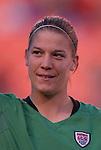 16 October 2004, Nicole Barnhart alternate goalie of the U.S. Women's National Team in their 1-0 defeat of Mexico at Arrowhead Stadium, Kansas City, Missouri..
